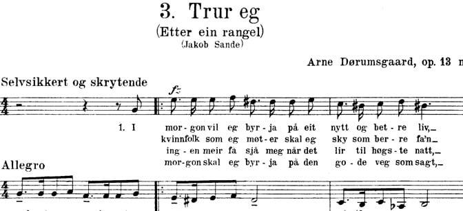 «Etter ein rangel» av Jakob Sande.